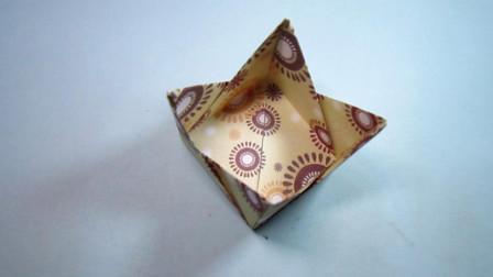 手工折纸,趣味收纳盒的折法,简单易学