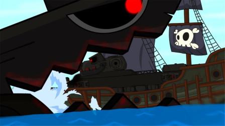 坦克世界小剧场:大海中的巨型坦克!