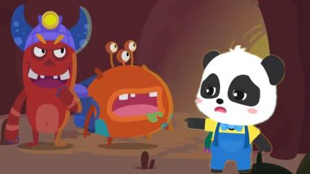 奇奇和小怪兽捉迷藏它们隐身了怎么办?宝宝巴士