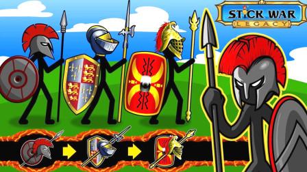 火柴人战争遗产:黄金斯巴达士兵,连续打了两个晚上的僵尸,666