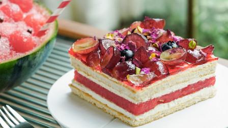 火遍澳洲的西瓜蛋糕,做起来也没啥了不起!