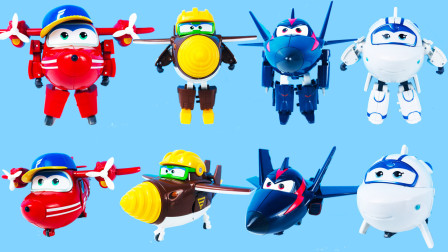 超级飞侠变形机器人套装系列玩具!淘淘、金刚、酷雷、米莉都变型成了机器人啦