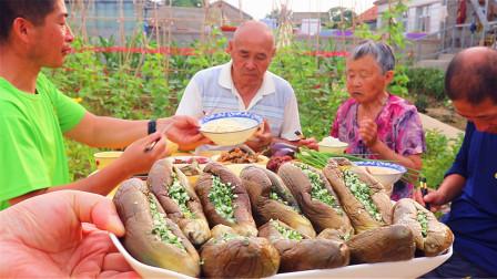 70岁大妈教你做最简单的蒜茄子,10个一盘5人吃,做少了没吃够