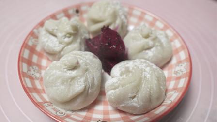紫薯酸奶雪梅娘,儿童喜爱得甜品,软糯香甜,口感细腻,做法简单