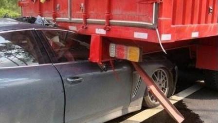 保时捷追尾大货车,无辜被拖数十公里,结果酿成4死1重伤!