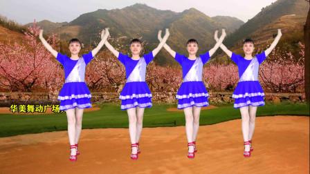 最新老歌广场舞《在那桃花盛开的地方》女生版别有一番味道