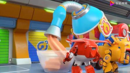 超级飞侠齐心做超级酸奶冻,看着好好吃,可乐迪要去执行任务了!