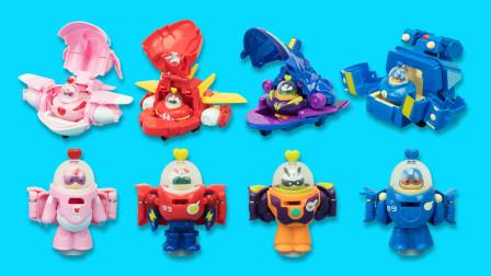 开心超人变形玩具:五合一的穿梭机变形套装