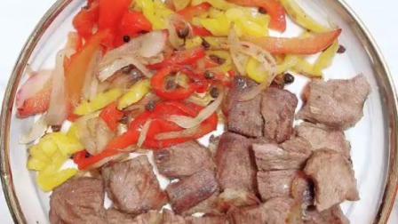 秘制黑椒牛肉,腌制时间越长越好吃,绝杀在腌制
