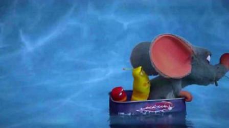 爆笑虫子:惊险刺激溜冰后,老鼠和二虫齐心协力,把自己送走了