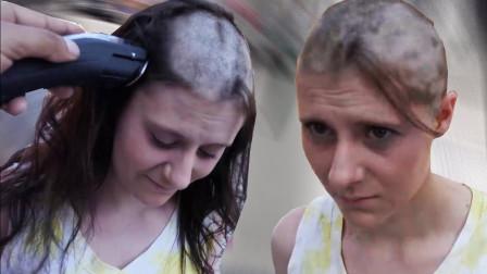 给你多少钱你愿意剪去长发?土豪花4万让美女剪光头,妹子竟然同意了!