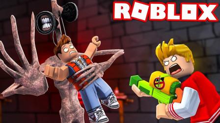 小格解说 Roblox 可怕怪物大亨:我成了超巨型警笛头!大战小猪?乐高小游戏