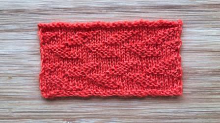只用上下针编织的棒针花样,像叶片,织衣服和配饰都不错图解视频