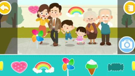 宝宝家庭日 给妈妈做生日蛋糕 拍全家福 早教亲子