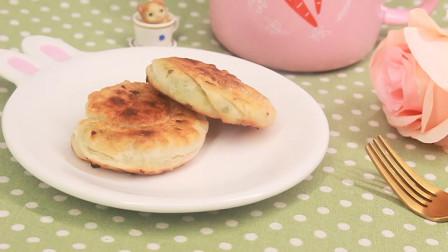 用饺子皮做一道美味的葱油饼