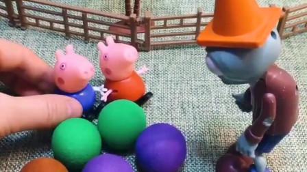佩奇拿了很多植物大炮,他是给植物们准备的,没想到让乔治用上了