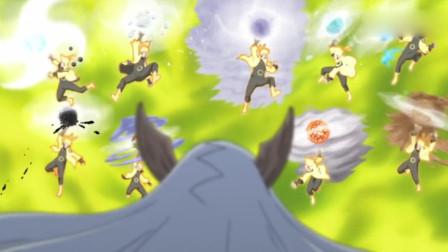 火影:鸣人使出仙法超尾兽螺旋手里剑对付辉夜,帅爆了!
