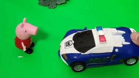 佩奇想要坐车去玩,可是大家都不让她坐,不是什么车都可以坐着玩的