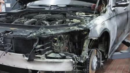 前后轮胎装反致车辆自燃