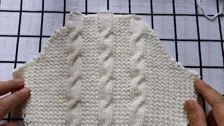 麻花衣袖山的编织教程,新手可以学会,适合编织有袖山款式的毛衣图解视频