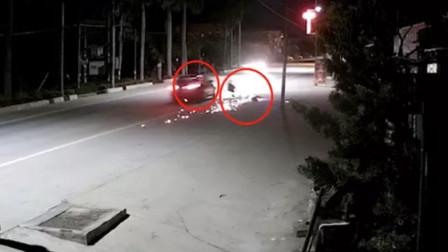 监拍:醉驾男撞死代驾后逃逸 被撞者女儿未满一周岁