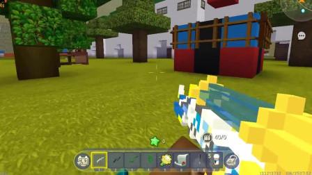 迷你世界:反键位吃鸡!一招改键位太好玩了,伙伴被揍的懵逼!