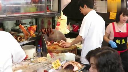 香港美食:香港斩料,烧鹅烧肉烧排叉烧,一刀刀停不了手