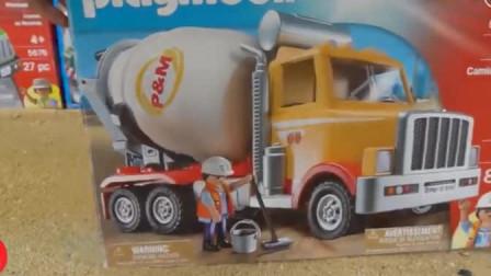 儿童工程车卡通 大卡车运载水泥搅拌车挖掘机翻斗车推土机吊车