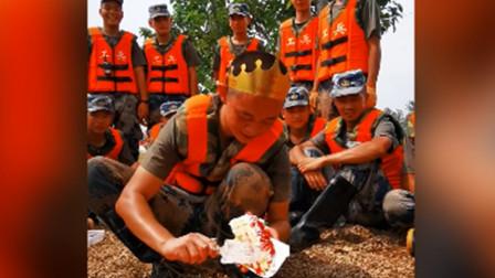 泪目! 20岁战士在防洪大堤上过生日 许暖心愿望: 希望洪水早日退去
