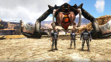 方舟生存进化:毛哥变身骷髅大螃蟹VS燃烧姐变身电系异特龙 这次谁能赢