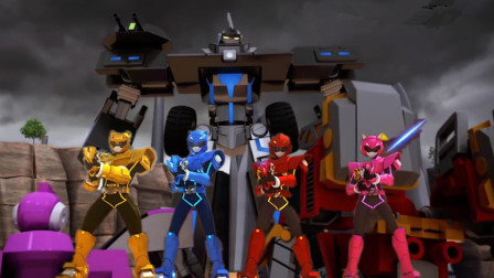 迷你特工队赛米和青蛙机器人路灯下的较量谁赢?