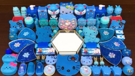 用天空蓝的KT猫来做无硼砂泥,解压又解暑,最后效果美哒哒!