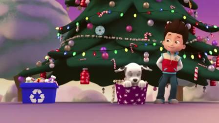 汪汪队立大功:狗狗用直升机布置出了世界上最高的圣诞树,真美