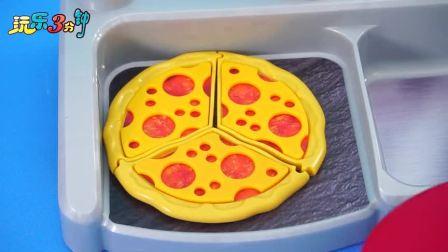 小猪佩奇的披萨店厨房玩具