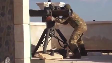 实拍叙利亚战场画面,这枚反坦克导弹值了!