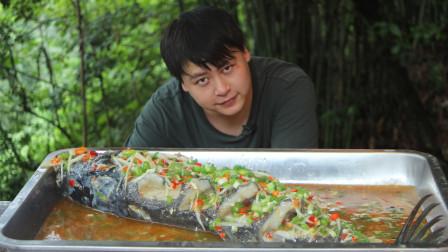 """3斤重鲢鱼做""""鲜椒跳水鱼"""",口感细腻清爽下饭,全家吃过瘾了"""