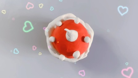 欢乐多彩泥 冰雪奇缘艾莎公主过生日吃蛋糕