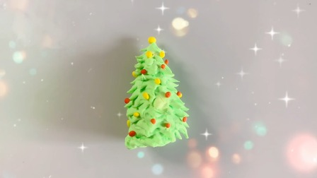 欢乐多彩泥 小猪佩奇送给大头儿子的圣诞树