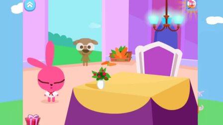 泡泡兔的西餐厅 为小狗狗制作彩虹水果蛋糕 亲子游戏