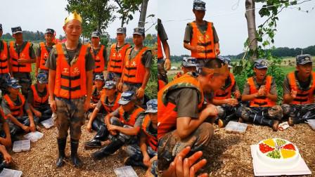 20岁战士防洪大堤上过生日许愿:希望洪水早日退去!