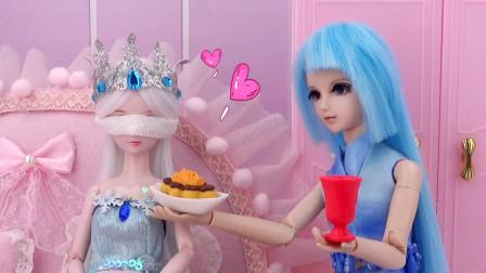 叶罗丽故事 水王子亲自喂水喂饭,细心照顾妹妹冰公主