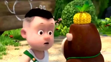 熊出没之夺宝熊兵:非常可口的菠萝布丁,看起来真好吃!