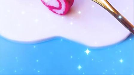 火龙果蛋糕,宝宝超爱易上手辅食制作