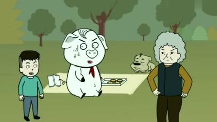 熊孩子抢猪屁登蛋挞,奶奶不管教,他用这招反击!