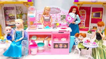 芭比娃娃变身为漂亮的蛋糕师,看看她都会做些什么吧!