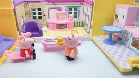 小猪佩奇给猪奶奶送生日蛋糕,却碰到怪兽出没,奥特曼及时出现