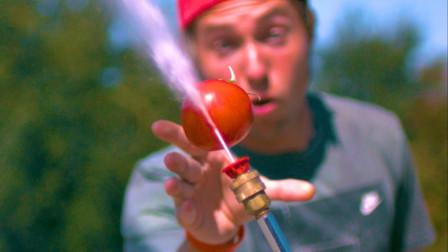"""水果接触到""""水刀""""会发生什么?镜头放慢1000倍,画面太神奇!"""
