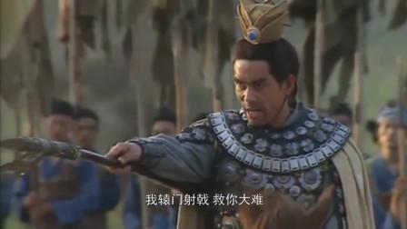 吕布手持方天画戟挑战张飞,刘备吓得立刻鸣金收兵