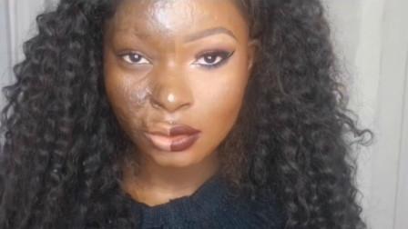 非洲女生化妆与不化妆,差别到底有多大?看完目瞪口呆