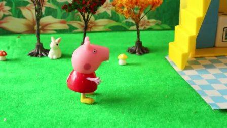 粉红猪小妹小猪佩奇玩具故事 瑞贝卡的汉堡
